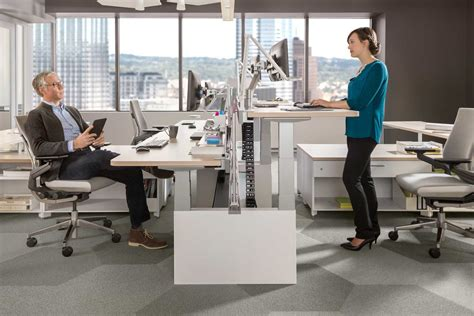 The Office Standing Desk Join The Brave New Office Trend With Standing Desks Tangram