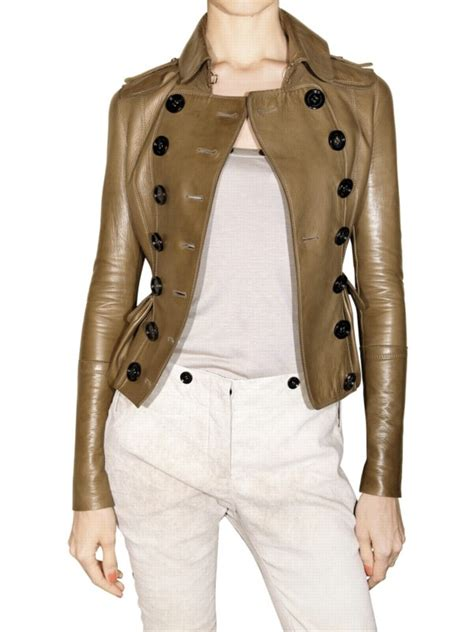 Burberry Style Leather burberry prorsum style leather jacket in brown