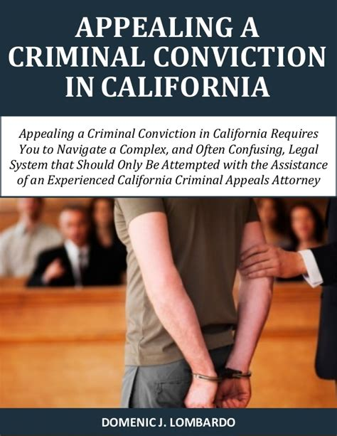 Criminal Conviction Appealing A Criminal Conviction In California