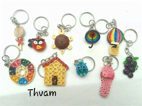 paper quilling keychain tutorial by thvam paper quilling key chains pinterest