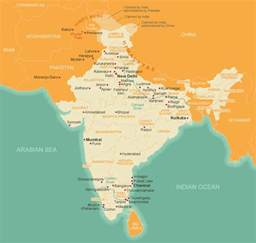 Map Of India And Surrounding Countries by Map Of India The Story Of India Resources Pbs