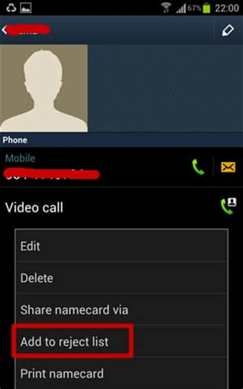 how to block calls from certain on android smartphones - Android Reject List