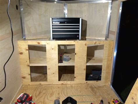 v nose trailer cabinet stuff i built cargo