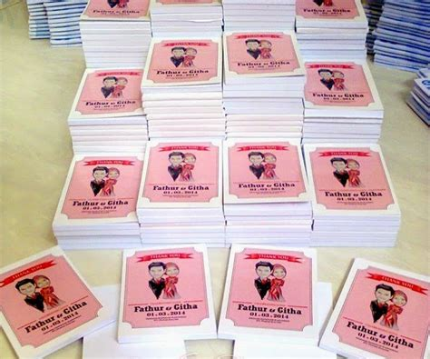 Jual Undangan Pernikahan Unik 4 souvenir pernikahan block note undangan ku souvenir