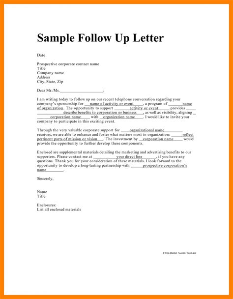 up letter response sle follow up email after no response for