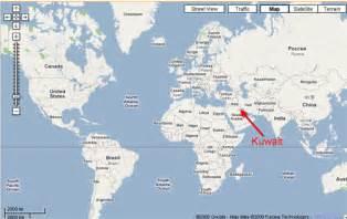 Kuwait On World Map by Kuwait Map World Images