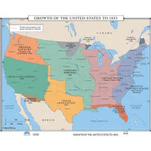 history map 029 growth of the united states in 1853
