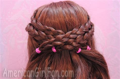 dolls fairstyle step by step criss cross braided doll hairstyle americangirlfan