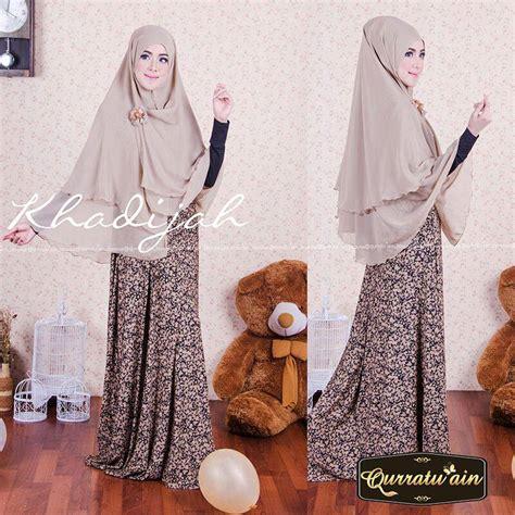 Terlaris Gamis Syari Hasna Brown Baju Muslim Modern khadijah brown baju muslim gamis modern