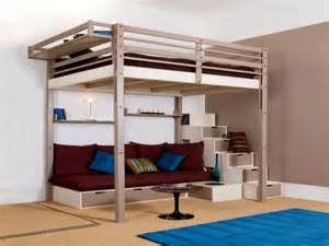 Modern Bunk Beds With Stairs Bedroom Delectable Size Loft Bed With Stairs For Minimalist Bedroom Nu Decoration