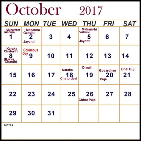 Calendar October 2017 Doc October 2017 Calendar With Holidays Calendar Doc