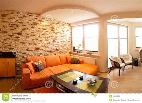 orange themed living room orange room panorama stock photo image 29896340