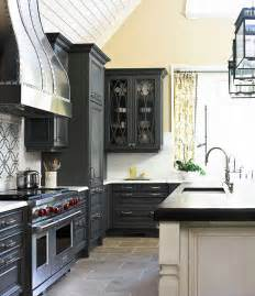 Grey Painted Kitchen Cabinets Gray Kitchen Cabinets Transitional Kitchen Traditional Home