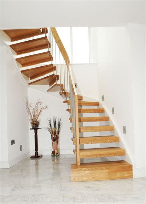 Timber Staircase Southampton with oak treads. Professional