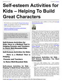 14 best images of self awareness activity worksheets