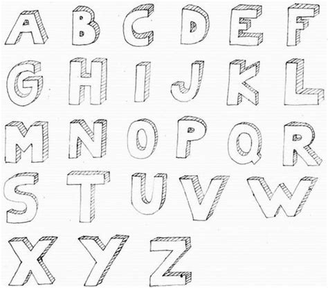 how to draw 3d letters 3d letter alphabet for art documents 1296