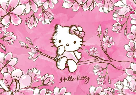 hello kitty wallpaper mural hello kitty wall paper mural buy at abposters com