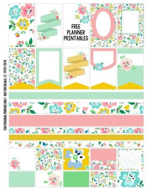 happy healthy life printable planner free happy planner printables organize your life in the
