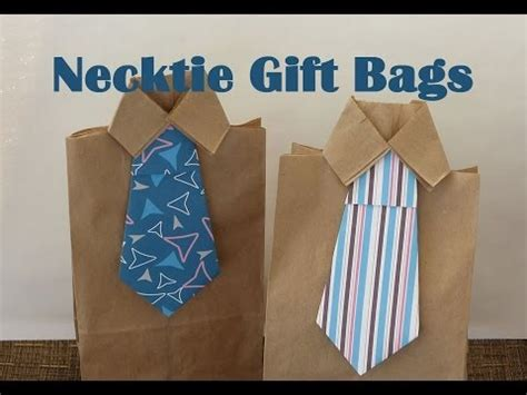 How To Make Shirt Out Of Paper - diy necktie gift bags