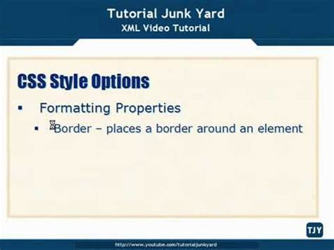 css tutorial in xml xml tutorial 46 css style options youtube