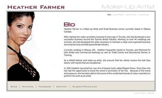 heather farmer make up artist bio