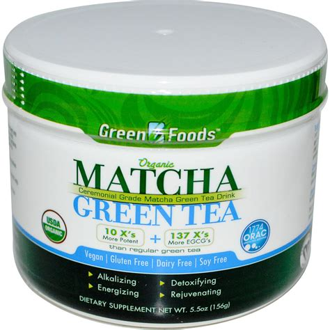 green tea matcha green foods corporation organic matcha green tea 5 5 oz