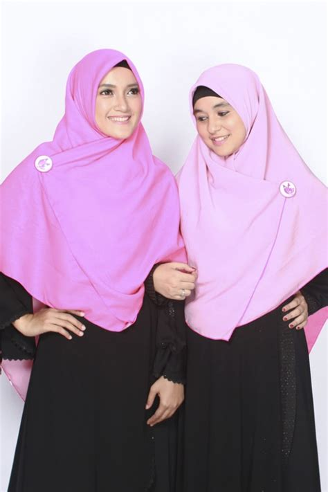 Segi Empat Rawis Hycon Dusty Purple sella khimar bolak balik pink fanta dusty pink
