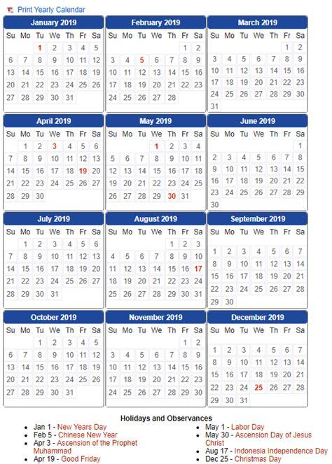 indonesia calendar  template  excel word