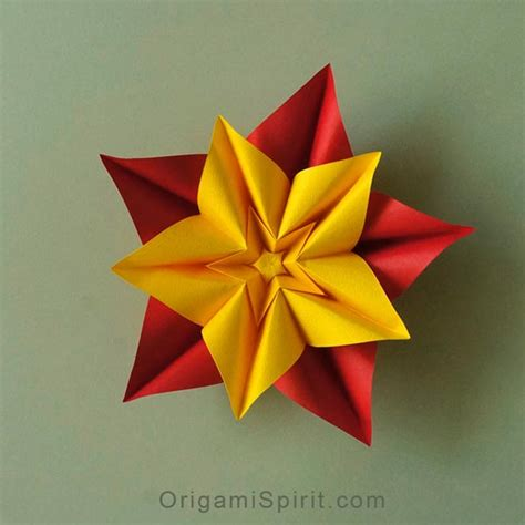 Make Paper Flower Origami - how to make an origami flower and variations