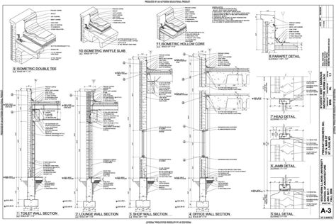 precast concrete wall section reinforced concrete column construction detail iso metric