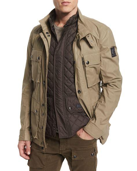 Jaket Parka Brown lyst belstaff trialmaster utility jacket in brown for