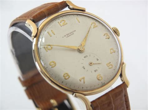 j w benson vintage 9k 1957 vintage gold watches