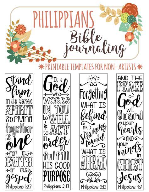 4 bible journaling digital download printable template