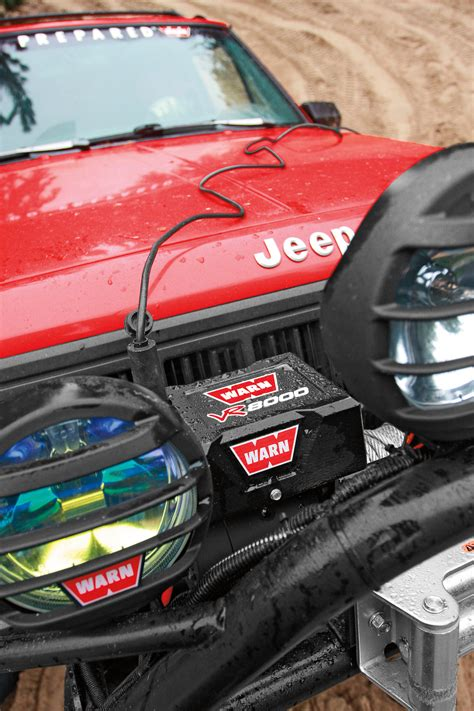 Winch Warn Vr8000 warn 86245 vr8000 winch with 94 wire rope and roller
