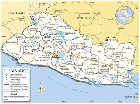 america map el salvador el salvador map map of el salvador el salvador map in
