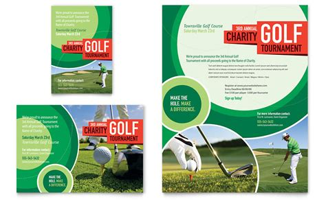 golf tournament flyer ad template word publisher