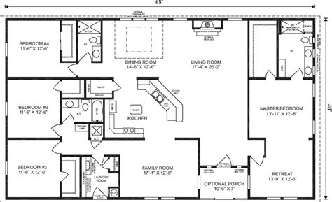 modular homes 4 bedroom floor plans modular homes citrus homes meadowood homes of florida
