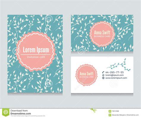 pattern name card design set of flora creative business cards design stock vector