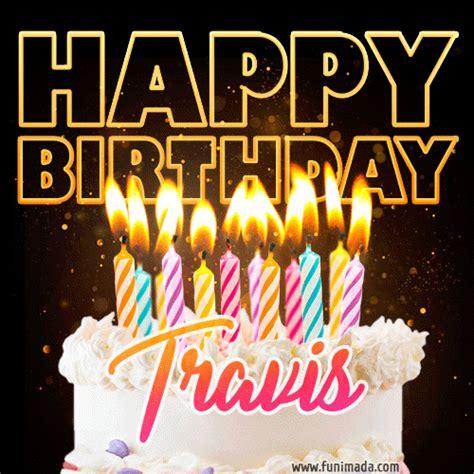 travis animated happy birthday cake gif  whatsapp   funimadacom