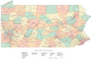 pennsylvania map of cities and counties