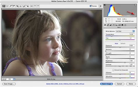 tutorial photoshop raw adjusting exposure in adobe camera raw cs3 photoshop cs3