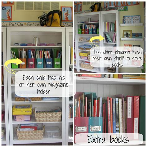 to organize school room organization for a big family the homeschool