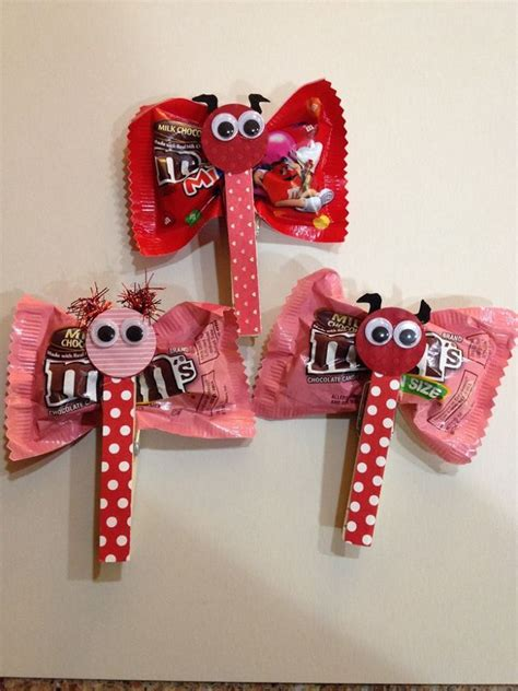 valentines m m diy projects clothespin m m butterflies