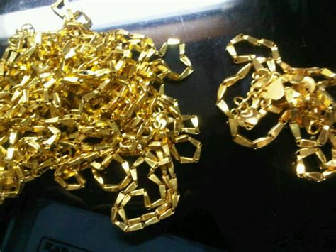 Gelang Palembang emas biji padi buatan palembang galeryemas