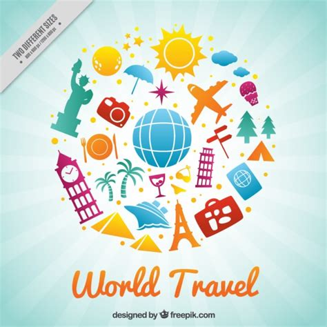 Around The World For Free happy travel around the world vector free