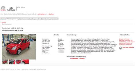 toyota credit bank neue auktionsplattform f 252 r gebrauchtfahrzeuge autohaus de