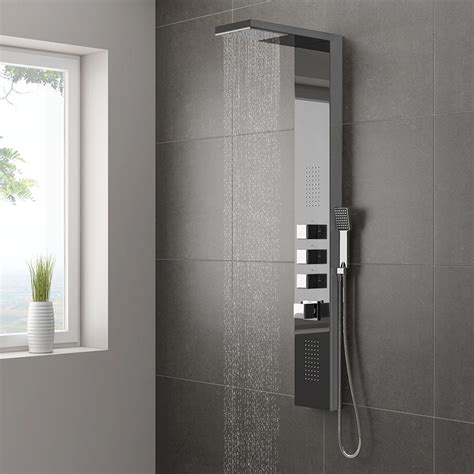 Shower Panels For Bathrooms Milan Modern Chrome Tower Shower Panel From Plumbing