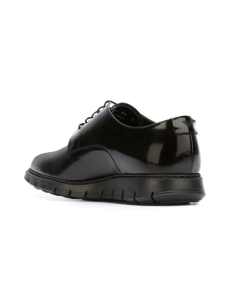 armani shoes for lyst emporio armani lace up shoes in black for