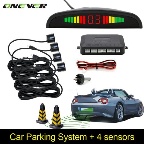 car backup car auto parktronic led parking sensor with 4 sensors