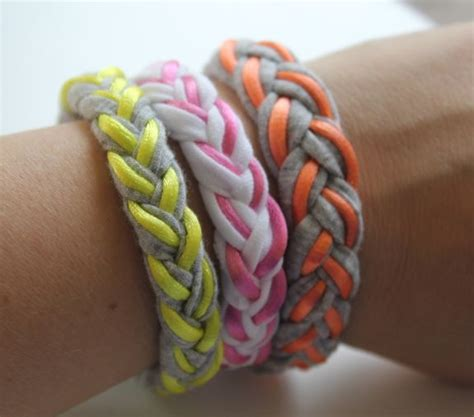Braid Craft - braided t shirt bracelet do it and how